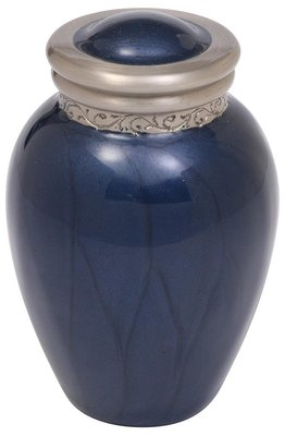 Indigo Brass Keepsake Urn