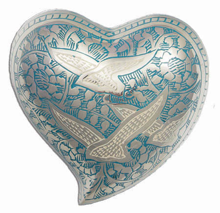 Brass Heart - Dove with Stand #Urn1554H