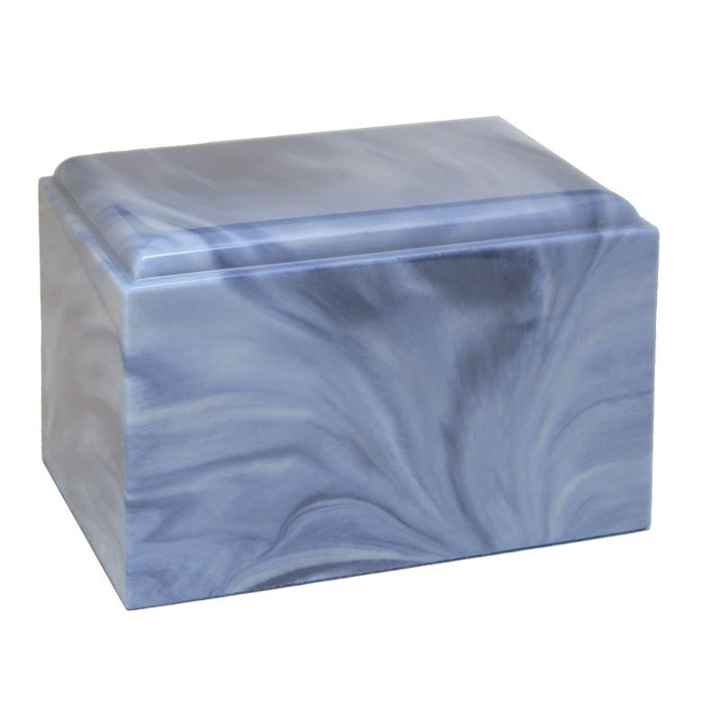 Cultured Marble Urn - Sky Blue