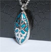 Teal and Silver Pendant SST